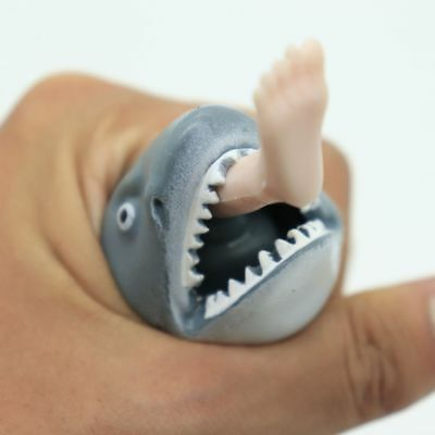 Funny Spit Foot Shark Squeeze Toy Squishy Prank Humorous Stress Reliever Fun Hot