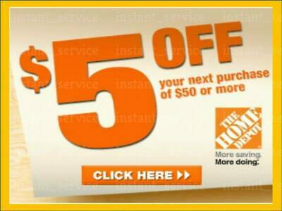 Home Depot discount $5 OFF $50 + 2% CASH BACK In-Store-Only