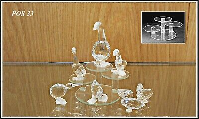 Glass display stands for Swarovski crystal POS 33 x 2