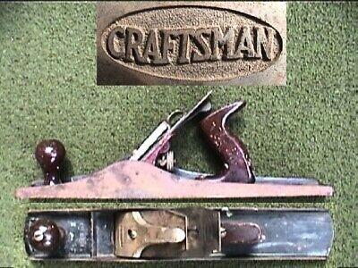 ☆ EARLY Sears Craftsman (Stanley No 6C ) Corrugated Fore Metallic Bench Plane ☆