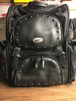 Saddlemen Synthetic Leather Studded Sissy Bar Motorcycle Touring Bag BR1800EXS