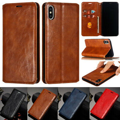 Luxury PU Leather Flip Wallet Case Cover For iPhone XR XS Max XS 6S 6 7 8 Plus X
