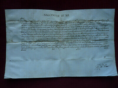 1694 Pope Clement XI signed as cardinal Albani - papal document  Innocent XII