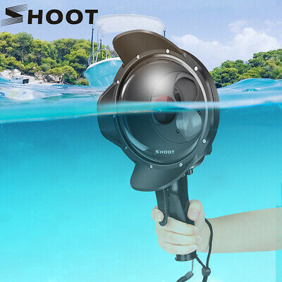 SHOOT Underwater Dome Port for GoPro Hero 7 6 5 Black Waterproof Case+Red Filter