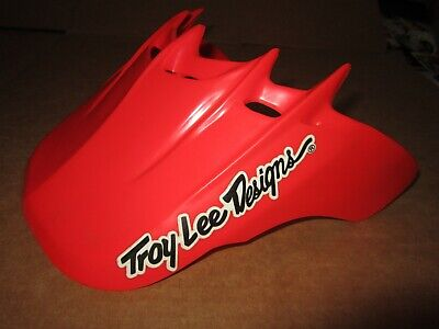 NOS TROY LEE DESIGNS MOTO ACE HELMET VISOR red motocross arai shoei bell bmx mtb
