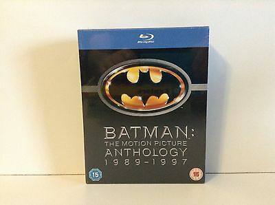 Batman: The Motion Picture Anthology 1989-1997 (Blu-ray Disc, 4-Disc Set) *NEW*