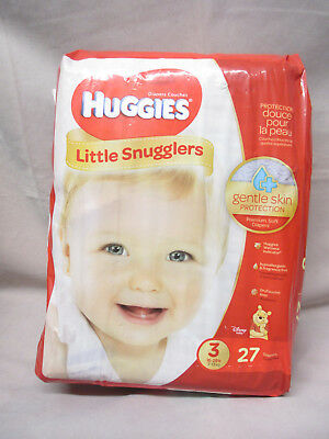 Huggies Little Snugglers Baby Diapers Size 3 27 Count Diaper Changing Products