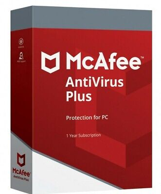 McAfee Antivirus PLUS 2020 One Year Unlimited Devices WINDOWS MAC ANDROID