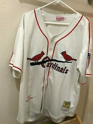 2600e528 Authentic Mitchell & Ness St. Louis Cardinals Stan Musial Jersey Size 52