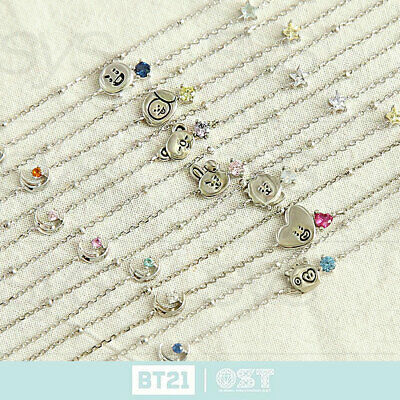 BTS BT21 Official Authentic Goods Silver Bracelet Ver2 by OST + Tracking Number