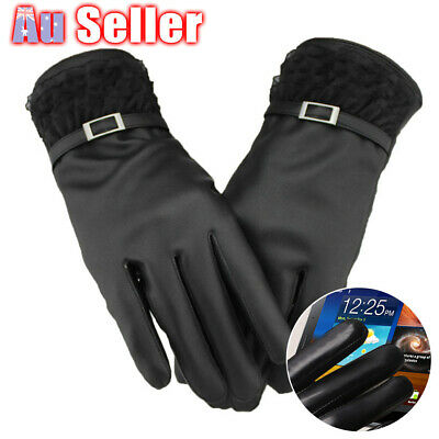 Women Warm For Smart Phone Magic Leather Winter Gloves Click Touch Screen