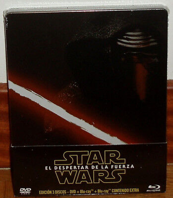 Star Wars le Reveil de la Force Steelbook 2 Blu-Ray + DVD Neuf Scellé R2