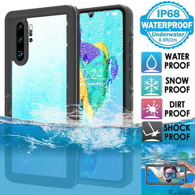 Huawei P20 P30 Mate 20 Pro Waterproof Case Cover Ultra Slim Shockproof Diving