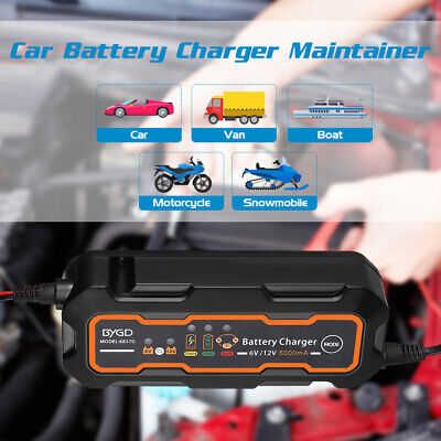 5A 6V/12V Car Truck Motorcyc Smart Automatic Battery Charger Maintainer Trickle
