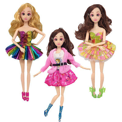 Party Short Skirts Outfit Dress Clothes For Barbie Doll Accessories Girls Gifts