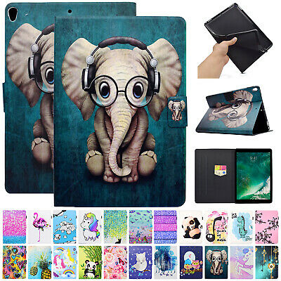 For iPad Mini 1 2 3 4 Case Smart Leather Cute Patterned Card Pocket Flip Cover