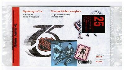 Canada Post 1992 Stamps NHL 75 Years Anniversary Seal