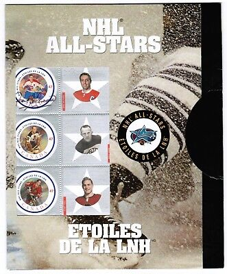 Canada Post  Stamp  2001 NHL All-Stars Jean Beliveau  Auto