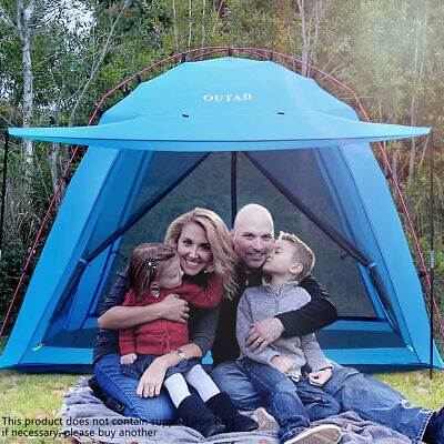 4 Person Camping Dome Tent Instant Pop Up Waterproof Double Layer Sun Canopy US