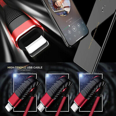 3in1 Multi Charger Cable Cord Lighting TypeC Micro USB Data Sync Fast Chargin _