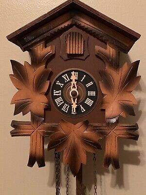 Vintage Cuckoo Clock West Germany Leaves Two Tone Color For Parts Or Repair
