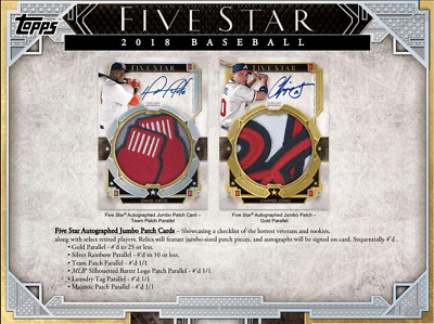 2018 Topps Five Star Baseball Live Pick Your Player (Pyp) 1 Box Break #6