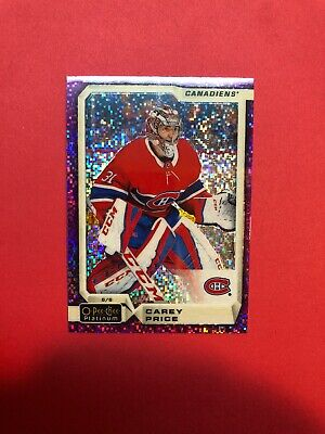 2018-19 OPC Platinum Violet Pixels # 15 Carey Price Montreal Canadiens Parallel