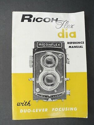 Ricohflex Dia Camera 1957 Reference Manual / Instruction Guide