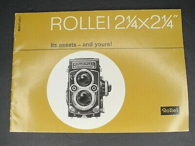 "Rollei 2 1/4"" x 2 1/4"" Its Assets And Yours! 1963 Brochure"