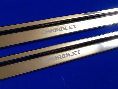 cabriolet golf MK1 vw Sills kick scuff plates Etched stainless finishing touch
