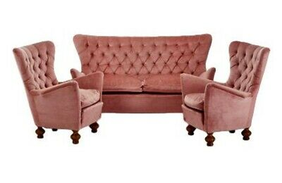 Living Room Set Sofa & 2 Armchairs Years 60 Vintage Modern Antiques Living Room