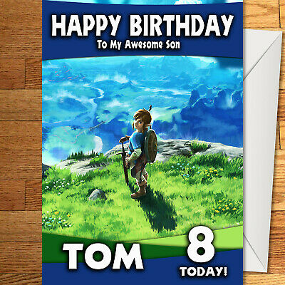 ZELDA A LINK TO THE PAST Personalised Birthday Card