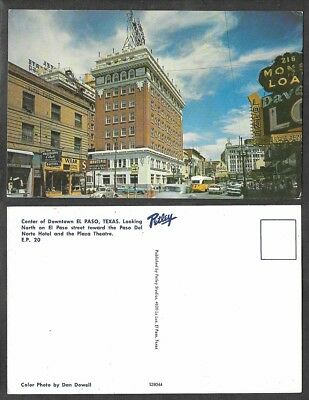 Old Texas Postcard - El Paso - Downtown