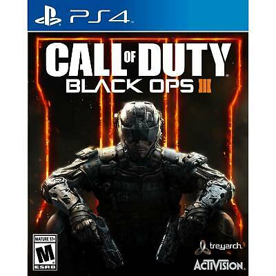 Call of Duty Black Ops 3 PS4 Playstation 4 COmplete very good.