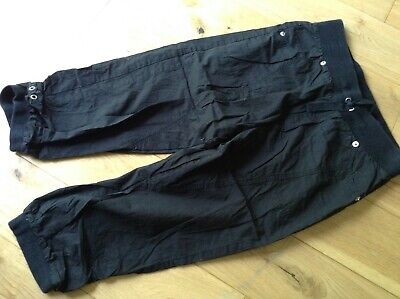 12-13 Years Girl Black Cotton Blend Trousers with Cuffs by Miss Evie