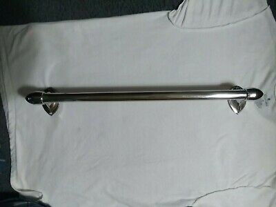Vintage chrome bullet end towel Holder Rod