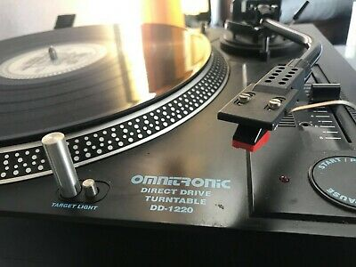 Omnitronic DD - 1220 Direct Drive Turnatables  Pair