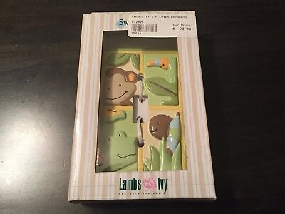 Lambs & Ivy PAPAGAYO rainforest theme nursery Light Switch Face Plate Cover