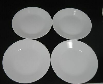 Lot/4 Corelle by Corning WINTER FROST WHITE Bread & Butter Plates 6 3/4""