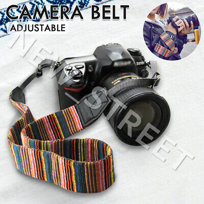 Soft Vintage Style Camera Neck Shoulder Belt Strap For Nikon Canon Sony SLR DSLR