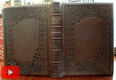 Italy Tuscany Italia 1886 Pennell Howells Dragon leather binding Art Nouveau boo