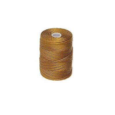GOLD 0.5mm C-Lon nylon 3 ply twisted thread, Macrame C-Lon nylon