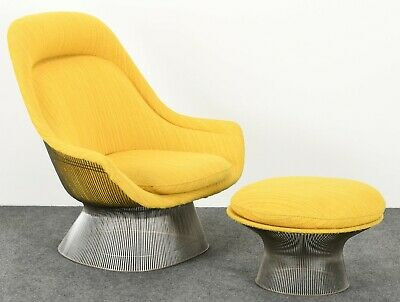 Knoll Easy Chair and Ottoman by Warren Platner Mid Century Modern, 1960s