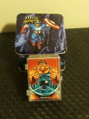 1992 Marvel Masterpieces Complete Base Set with Tin