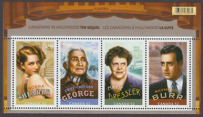 Canada - #2279  Canadians in Hollywood: The Sequel Souvenir Sheet - MNH