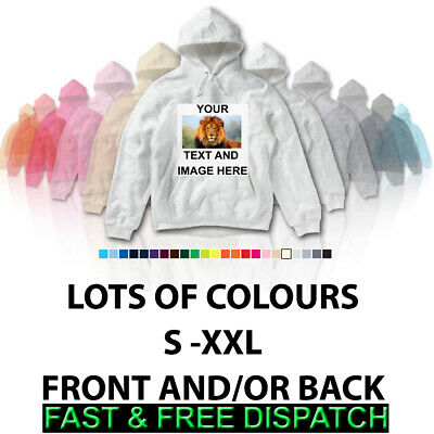 Personalised Custom Text Image Picture Printed High Quality Hoodie Any Occasion