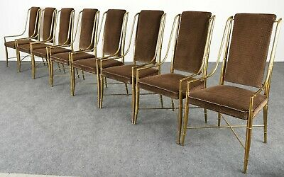 """The Imperial Chair"" Set of Eight by Weiman / Warren Lloyd for Mastercraft, 70s"