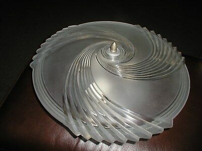 "Antique frosted glass 16 "" semi flush Art Deco light swirl ceiling chandelier"
