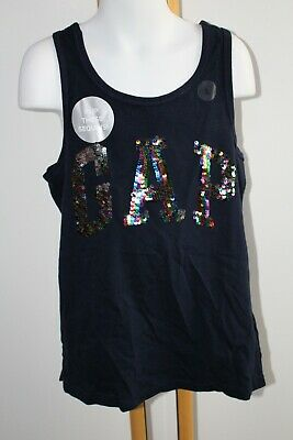 New Gap Kids Girls July 4th American Flip Sequin Star Top NWT 6 7 8 10 12 year