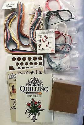 Mixed Lot Quilling Techniques Ideas Book Jane Jenkins Paper Boards Many Colors!